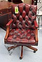 OFFICE CHAIR, Gainsbourg style, in antique red