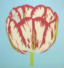 CONTEMPORARY SCHOOL, 'Tulips I - IV' screenprints, 66cm x 66cm, signed and