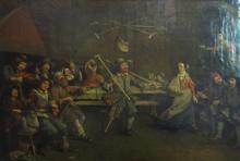 MANNER OF EGBERT VAN HEEMSKERY, 'The cripples guild', oil on canvas, 48cm x