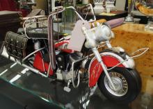 MODEL MOTORCYCLE, 'Red Indian chief', 82cm L.