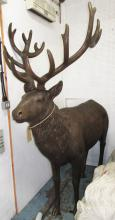 STAG, in resin, bronzed effect finish, 215cm H.