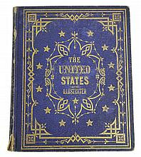 Book, 'The United States' -41 steel engrvings1855