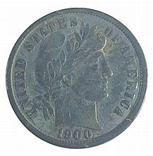 Coin, Barber ten cent, 1900, F