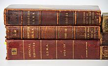 Books, (8 Volumes) Official Register U.S.M.A 1818