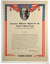 WWI President Wilson's Appeal for 4thLiberty Loan