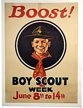 WWI Boost! Boy Scout Week, Norman Rockwell