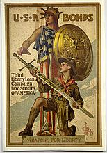 WWI Boy Scouts, Third Liberty Loan, Leyendecker