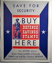 WWII Save For Security Buy Defense Savings Here