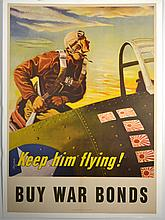 WWII Keep Him Flying, Georges Schreider, Large