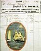 Receipt, Ship Chandler w/ptg J. Calouhoun, 1867