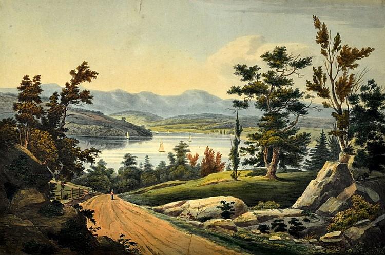 Hudson River Portfolio, View Near Hudson, c. 1825