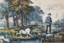 Chromolithograph, Currier & Ives, Snipe Shooting