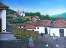 Painting, O/C, J.A. Velasquez, 1966