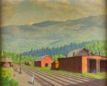 O/C Railroad Station, Gorham, N.H., F.R. Pope