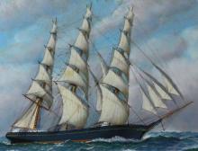 O/B, Clipper ,Ship, 'Jabez A. Howes,' A. Jacobsen