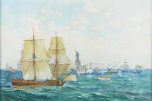 W/C, N. Y. Harbor, Fred S. Cozzens, 1901