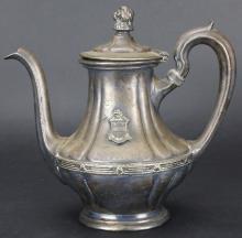 Tea Pot, Silver, R. Wallace,