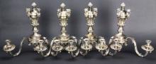 Sconces, Silver, Figural Decoration, 19th C.