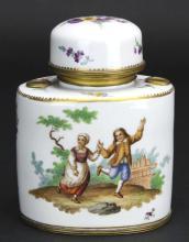Porcelain Ink Stand, Meissen, C. 1800