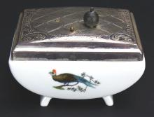 Porcelain Music Box, Hand Painted, German