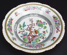 Plate, Hand Paint and Transfer, Adams, 19th C.