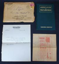 Book, Theodore Roosevelt Autograph w/ Speeches