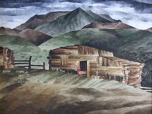 O/C Barn @ Truchas, New Mexico by N. E. Rutt
