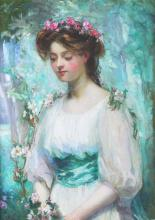 O/C Portrait of a Young Woman, Z. Baylos