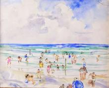 W/C/P Beach Scene by Martha Walter