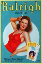 Advertising, Raleigh Cigarettes, Chromolith