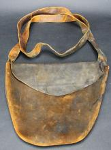Leather ammo pouch, mid-19th c.
