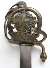 Sword w/Scabbard, German, Marked Rtufgxc Fakyxcn