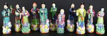 Chinese Stoneware Figurines, (11) Pieces