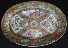 Platter, Chinese Export, Rose Medallion,