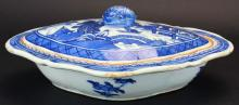 Chinese Export Serving Dish, Covered, Canton