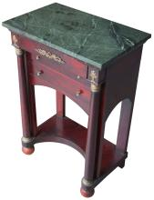 Stand, Mahogany, Marble Top, Ormolu Mounts