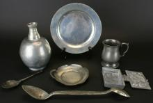 Pewter Pieces & Chocolate Mold, C. 1800