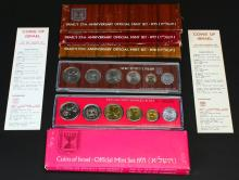 (5) Sets Israel's Anniversary Official Mint Coins