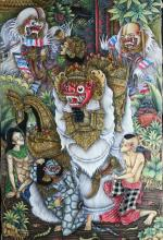 O/C Masked Figures, Bali, 2000