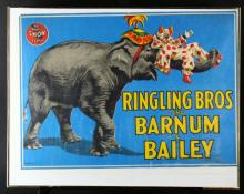 Litho/Poster, Ringling Bros. Elephants