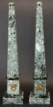 Pair of Marble Obelisks, French, C.1830