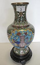 Good Chinese cloisonne bottle vase with precious