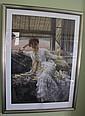 Framed Tissot print 'Seaside'