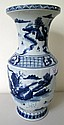 19thC Chinese Blue and White Porcelain Vase