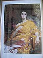Framed Frank Dicksee print 'The Yellow Shawl'