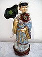 Chinese ivory & cloisonne figure of a woman