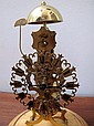 Antique French skeleton clock with passing strike