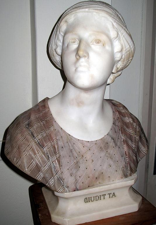 Prof Guiseppe Besji Italy 1857-22 marble bust