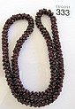 String of vintage garnet beads