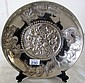 Antique Russian embossed silver dish stamped marks